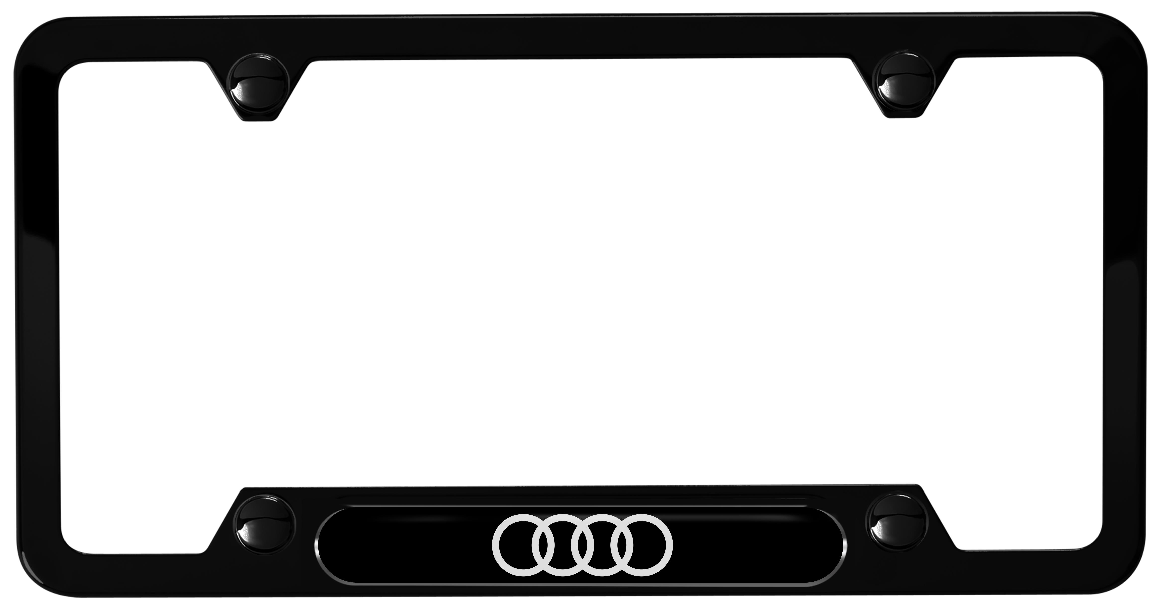 2018 Audi Q5 Audi rings license plate frame, black powder coated stainless steel - ZAW071801HDX9 ...