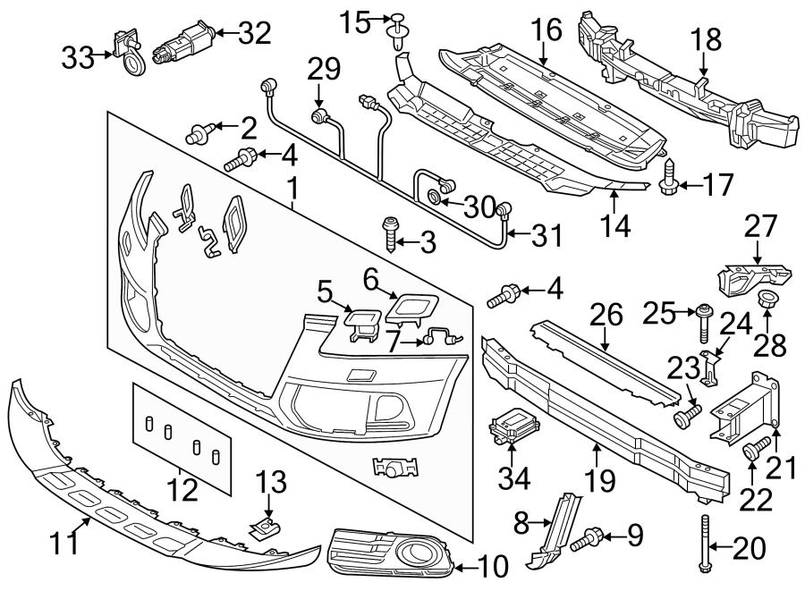 2016 Audi Q5 Sensor  Park  Electrcal  Componants